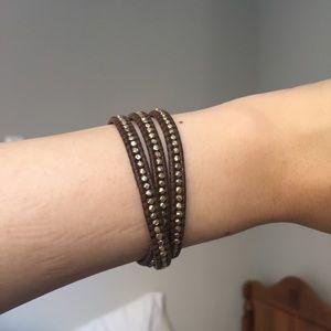 Chan Luu Leather 3 Wrap Bracelet